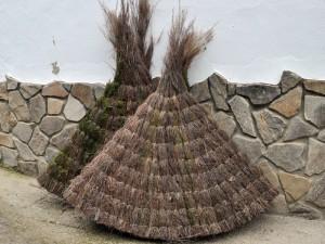 Parasoles de brezo natural