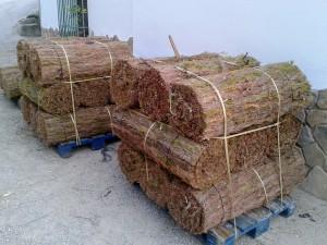 Rollos de brezo natural listos para enviar